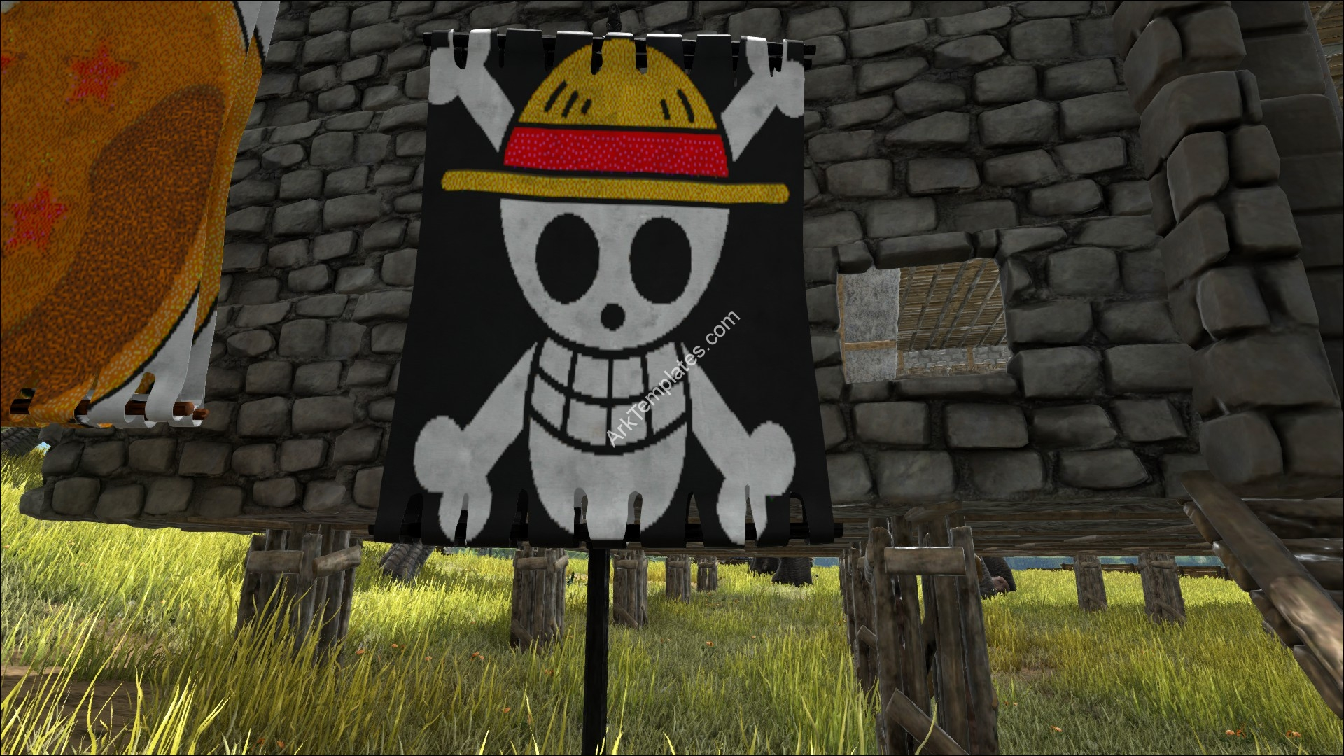 Straw Hat Jolly Roger Pirate Flag
