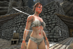 Female Tribal Paint