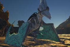 Cyan Pteranadon