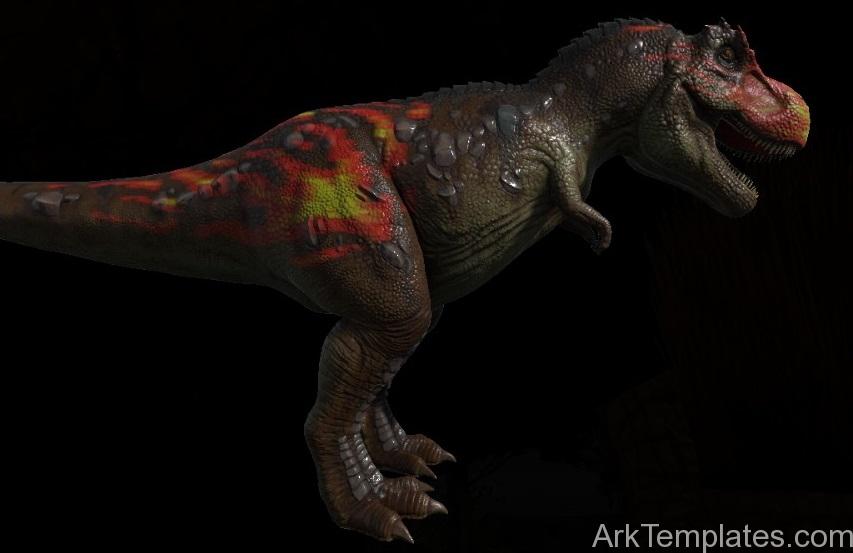 t rex flames ark templates