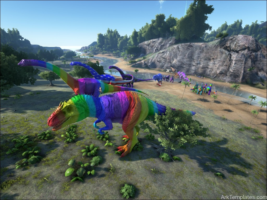 how to use ark paint templates on xbox one