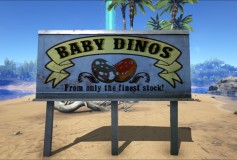Baby Dinos (Wooden and Metal Signs)