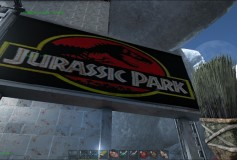 Jurassic Park Metal Billboard