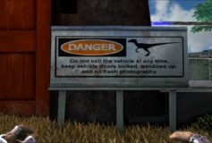 Raptor Warning Metal Billboard