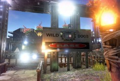 Wild Dog Base Metal Billboard