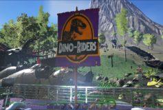 Dino Riders Single Panel Flag