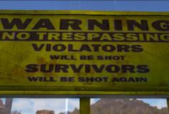 Warning: Trespassers