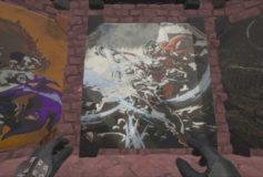 Mario vs Ryu Painting