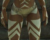 White Sharp Tribal Tattoos